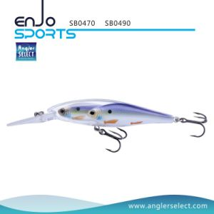 School Fish Stick Bait Deep Diving Fishing Tackle Lure with Vmc Treble Hooks pictures & photos