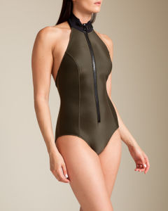 Neoprene High Neck Ladies Swimsuit pictures & photos