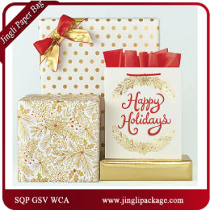 Christmas Paper Carrier Gift Bags Shopping Bags with Hot Stamping pictures & photos