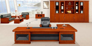 11 Feet Teak Wood Executive Office Table (HY-No. 5)