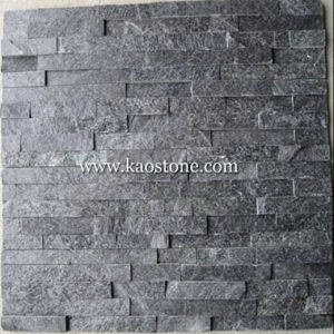 Natural Dark Grey/Black Cultured Stone for Wall Cladding pictures & photos