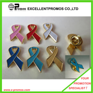 Hot Quality Custom Red Ribbon Badges, Metal Badges (EP-L8260) pictures & photos