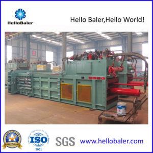 Semi-Automatic Horizontal Waste Paper Baler with Conveyor pictures & photos