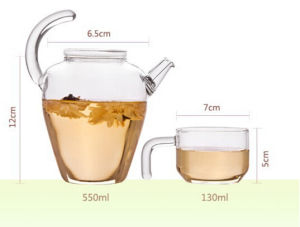 Elegant Design 600ml Glass Water Pitcher, Juice Jug, Water Jug pictures & photos