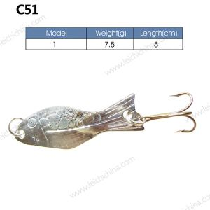 Low Price Metal Fishing Spoon Lures pictures & photos