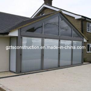 Aluminum Folding Door Glass Door with Built-in Blinds with Australian Standard AS/NZS2208 pictures & photos