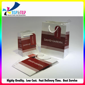 Luxury Paper Shopping Bags with Button Closure Handle pictures & photos