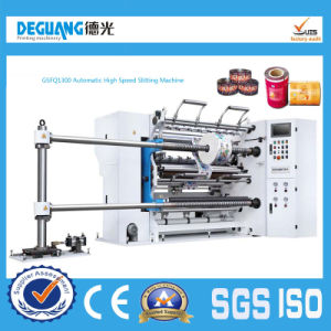 Automatic Plastic Film Paper Slitting Machine for Sale pictures & photos