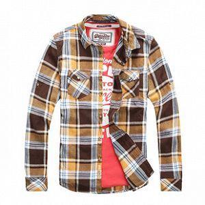 Men′s Clothing 100%Cotton Woven Y/D Shirt (RTS14017) pictures & photos