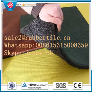 Anti-Bacteria EPDM Recycled Indoor Rubber Tile Gym Rubber Flooring pictures & photos