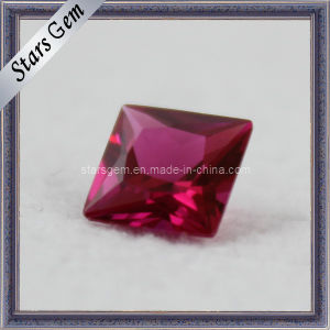 Cheap Price Square Cut Red Synthetic Ruby Stone pictures & photos