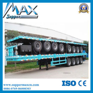 25t-200tons Low Bed Semi Trailer/Semi Lowbed Lowboy Truck Trailer (LAT9320TDP) pictures & photos