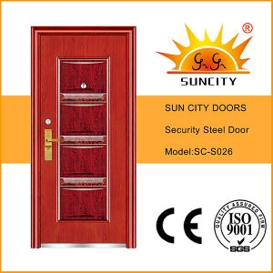 Exterior Metal Door Prices Steel Main Door Design (SC-S026) pictures & photos