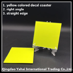 4mm Yellow Colored Glass Coaster pictures & photos
