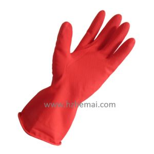 Household Latex Gloves Rubber Cleanning Gloves Latex Kitchen Gloves pictures & photos