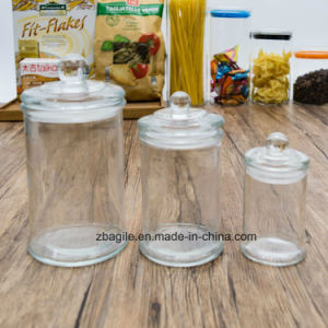 Factory Wholesale Bottle Transparent Round Elegant Storage Glass Jar (100081) pictures & photos