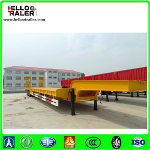 3 Axles 60 Ton Low Loader Truck Trailer pictures & photos