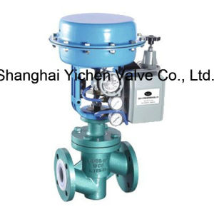 Pneumatic Fluorine Lined Single Seat Control Valve with Handwheel pictures & photos