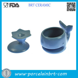Blue Dolphin Shape Ceramic Cookie Mug pictures & photos