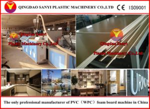 Wood Plastic Foam Board Extrusion Machinery (SJSZ80/156) pictures & photos
