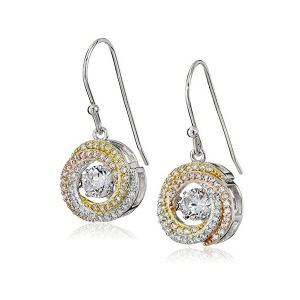 Too Tone 925 Silver Dangle Earrings with Dancing Diamond Jewelry pictures & photos