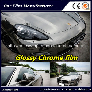 Black Glossy Chrome Film Car Vinyl Wrap Vinyl Film for Car Wrapping Car Wrap Vinyl pictures & photos