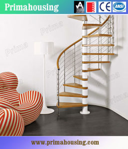 Customized Small Space Wood Spiral Staircase pictures & photos