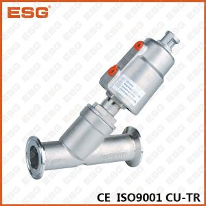 Tri-Clamp Ends Stainless Steel Angle Seat Valve pictures & photos