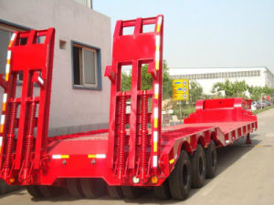 ISO CCC Approved 3 Axle Low Bed Truck Trailer pictures & photos