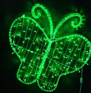 2015 New Design 2D Colorful LED Butterfly Light for Mall Decoration pictures & photos
