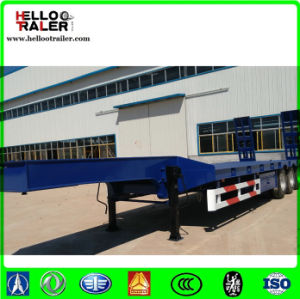 3 Axle Low Bed Semi Trailer Low Loader Trailers for Excavators pictures & photos