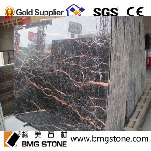 High Quality and Cheap Red Cuckoo Black Marble Stone Tiles