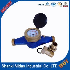 Dn25mm Wireless Multi-Jet Bronze Cold Water Meter pictures & photos