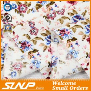 100% Cotton Reactive Plant Printing Fabric for Dress