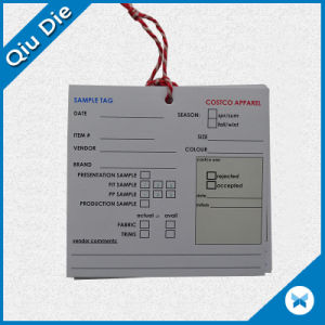 Customized Sample Tag for Apparel/Garment/Clothes pictures & photos