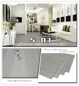Factory Wholesale Waterproof Laminated Wood Grain Cheap PVC Vinyl Flooring pictures & photos
