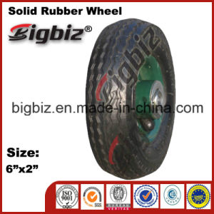 Low Price 6X2 Lawnmower Solid Rubber Wheel for Sale pictures & photos