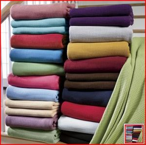 Solid Color Cotton Thermal Blanket (HRCB001) pictures & photos