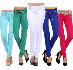 2016 Customized Hot Sale High Quality Tight 100% Cotton Skinny Ladies Casual Pants (XY14W81810) pictures & photos