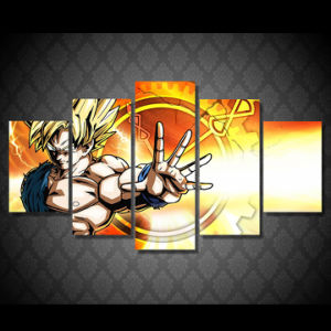 HD Printed Dragon Ball Z Painting Canvas Print Room Decor Print Poster Picture Canvas Mc-049 pictures & photos