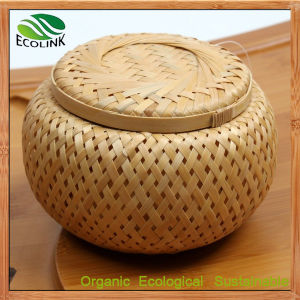 Bamboo Weave Tea Jar Canister Crates Barrel pictures & photos