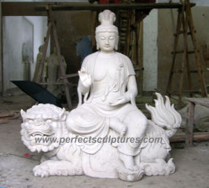 Antique Temple Buddha with Stone Granite Sculpture Marble Statue (SY-T117) pictures & photos