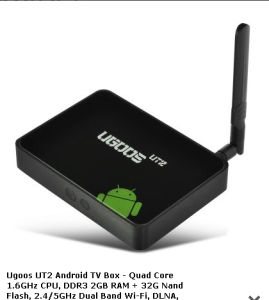 Ugoos Ut2 2g/32g Quad Core Rk3188 Android 4.4 TV Box with Bluetooth, Kodi-on Sale! !