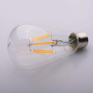 Energy Saving Light St64 E27 6W LED Filament Bulb pictures & photos