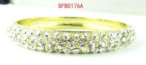 Fashion Jewelry All Glass Stone Alloy Fashion Bangle & Bracelet Jewelry (SFB0176A)