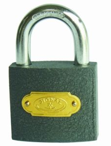 Good Quality Grey Iron Padlock with Iron Keys (SS-025) pictures & photos