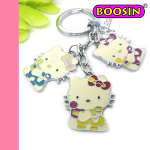 Cute Promotion Gift Hello Kitty Cat Keyring / Catoon Metal Keychain pictures & photos