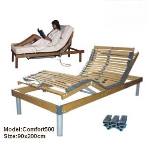 4 Zones Birch Wooden Slat Electric Bed
