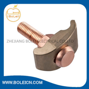 Bare Wire Ground Clamp (Solid Brass with Stainless Steel Screws) pictures & photos