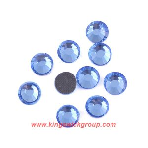 Top Quality Lead Free Ss12 Light Sapphire Flat Back Rhinestones for Jewelry Making pictures & photos
